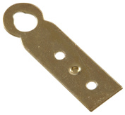 The Hillman Group 2166660cm x 5.1cm Hanger Plate- Brass Finish 4-Pack
