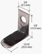 """CRL 2.1cm Bendable """"L"""" Clips - Pack of 4"""