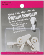 Hard Surface Walls Picture Hangers 5/Pkg-