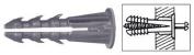 CRL 0.5cm Plastic Screw Anchor with Shoulder - 100 Each