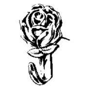 Hillman Fasteners 122292 Rose Push Pin Hangers Antique Brass