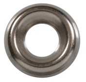 The Hillman Group The Hillman Group 1261 #6 Brass Nickel Plated Countersunk Finishing Washer 48-Pack