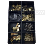 "WennoW ""Picture Hanging Kit 100 Pcs In Plastic Case"