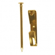 Ook 20 Lb Capacity Brass Picture Hanger Sold in packs of 12
