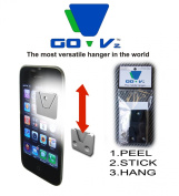 GO-Vz THE MOBILE WALL HANGER , hang anything on any surface large black 3-pack