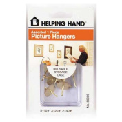 Helping Hand Assorted Picture Hanger Hooks Sold in packs of 3