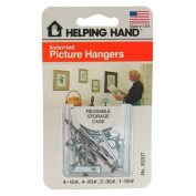 Helping Hand Picture Hangers, Assorted, 11 Hangers Pack of 3