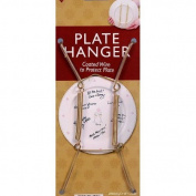 Decorative Plate Display Hangers Are Expandable to Hold 8 to 25cm Plates- Gold Wire Spring Type -Pack of 6 Hangers