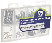 The Hillman Group 591533 Medium Aluminium Wire Nail Assortment 175-Pack