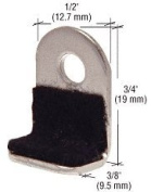 """CRL 1.9cm Long Lined Metal """"L"""" Clip - (100 Clips) Package"""