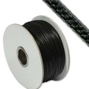 Faux Snakeskin Leather 2mm Black Round