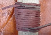 Lace Lacing Leather Topgrain Chocolate Brown 12 Feet 2 Pieces