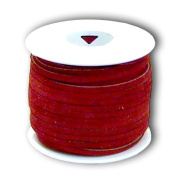 Springfield Leather Company 0.3cm x 25yd Suede Red Leather Lace