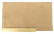 Scrap Leather Piece Medium Weight Boot Leather; Light Brown Desert Sand Cowhide 46cm X 25cm Piece