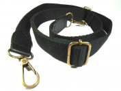 Black Cotton Straps for Tote Bag with Wide 4 Cm Long 120 Cm.