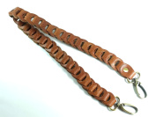 N250 Brown Colour Leather Bag Shoulder Belt Replacement with Wide 2 Cm