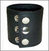 LEATHER WRIST CUFF, MONEY WALLET WRIST CUFF, LOW PRICE, NEW, ADJUSTABLE WITH SNAP BUTTON BY SBL