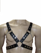 LEATHER HARNESS WITH CHAIN, GREAT DESIGN, NEW DESIGN 1162