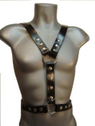 LEATHER HARNESS, O RING STUDS ADJUSTABLE, 100% COW LEATHER