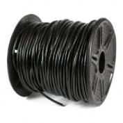 Genuine LEATHER CORD 1mm BLACK