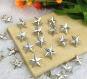 Come2Buy 100pc 7MM Silver Star Studs Metal Claw Beads Nailhead Punk Stud Rivet Spik