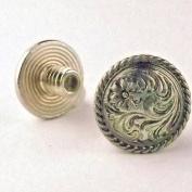 Chicago Screws Antique Silver 0.6cm 10 Pack 3305-06