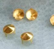 100pcs DIY Gold 9mm Cones Studs Spots Punk Nail heads Spikes for Bag Shoes Bracelet