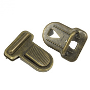 Springfield Leather Company 2.9cm Antique Brass Plate Tuck Lock Clasp