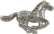 Springfield Leather Company's Silver Plated Running Horse Crystal Concho