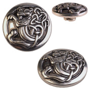 Concho / Screw Back Rivet Celtic Dragon