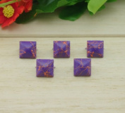 Come2buy 100pc 12mm Painted Colourful Line Pyramid Studs Metal Claw Beads Nailhead Punk Stud Rivet Spike - Purple