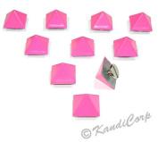 13mmx9mm Bubblegum Pink Pyramid - Screw on Fashion Spike - 10 pcs.