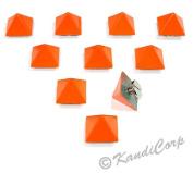 13mmx9mm Orange Orange Pyramid - Screw on Fashion Spike - 10 pcs.