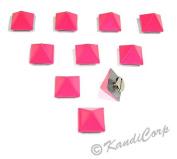 13mmx9mm Watermelon Pink Pyramid - Screw on Fashion Spike - 10 pcs.