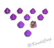 9.5mmx6mm Grape Purple Cone - Screw on Fashion Spike - 10 pcs.