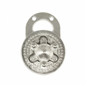 Springfield Leather Company Nickel Plate Round Turn Lock Clasp