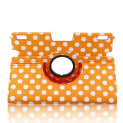 Topchances (Polka Dot) Slim Fit Leather Case Cover Auto Sleep/Wake for Kindle Fire HDX 23cm Inch Tablet-orange