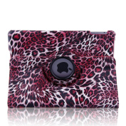 Topchances (Leopard Pink) 360 Degree Rotating Stand Smart Cover PU Leather Case for iPad Air iPad 5 Generation Display