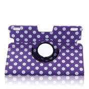 Topchances (Polka Dot) Slim Fit Leather Case Cover Auto Sleep/Wake for Kindle Fire HDX 23cm Inch Tablet-Purple