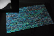 Blue Paua Shell Coated Enhanced Adhesive Veneer Sheet