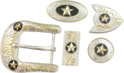 Springfield Leather Company's 11pc Buckle Set, Stars, Silver/Gold