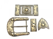 Springfield Leather Company's 6pc Buckle Set, Stars, Gun-Metal/Gold