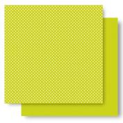 Best Creation 30cm by 30cm Basic Glitter Paper, Kiwi Dot