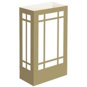 Luminaria Bags- Gold Lantern Standard 100 Ct