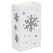 Luminaria Bags- Snowflake Standard 100 Ct