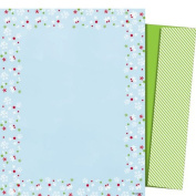 Mara-Mi Letterhead Blue Flakes, 22cm x 28cm ,100 sheets/envelopes