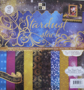 DCWV The STARDUST STACK Pad of 48 SHEETS Printed CARDSTOCK 30cm z 30cm w 1/2 FOIL & GLITTER Acid & Lignin FREE