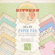 Melissa Frances 30cm by 30cm Kitschy Kitchen Paper Pad, 42 Sheets Per Pad