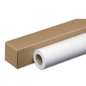 PM Company Wide-Format Inket Paper Roll, 24 lbs., 5.1cm Core, 110cm x 150 ft, White. Amerigo