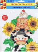 Plaid Iron-On Transfer Farmyard Friends Sunflower Friends #57768 Design by Rose Calton